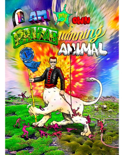 """""""Prize Winning Animal"""" art by Marc Ngui, part of the Meme Swarm series of images."""