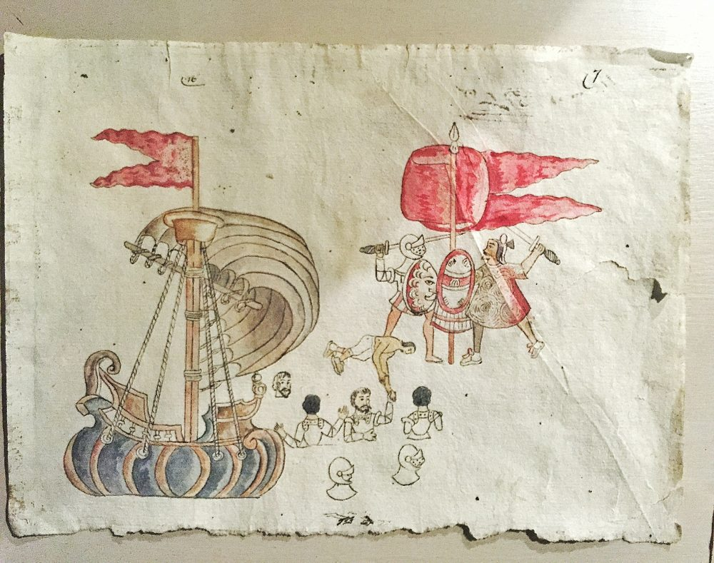 Spanish invasion drawing of boat