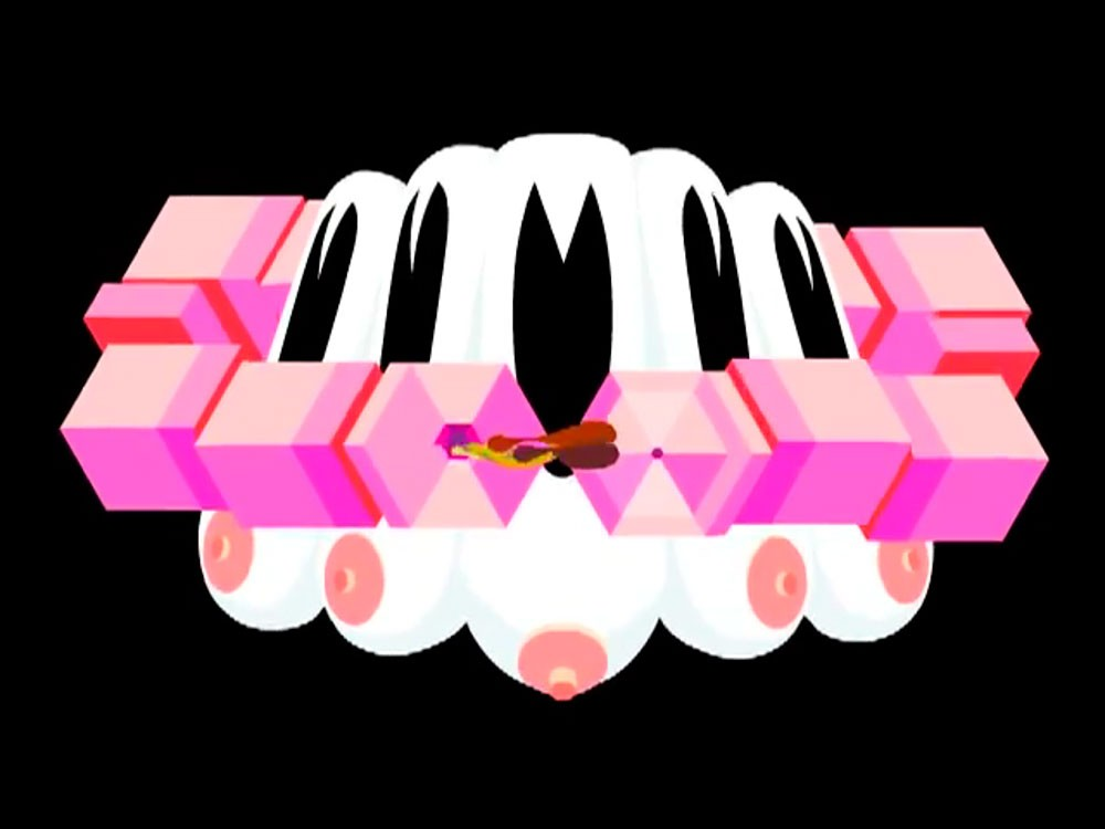 A still from the Totem Pill animation by Marc Ngui showing Circuit 1.