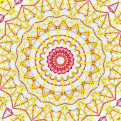 Yellow embroidered mandala